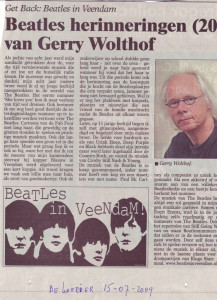 Gerry Wolthof en de Beatles in Veendam