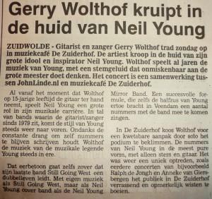 Gerry Wolthof kruipt in de huid van Neil Young